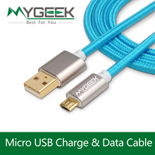MyGeek 3 pcs/lot 4.0mm Nylon Micro USB Cable for Samsung HTC Huawei Android 3m 2m Charge wire Microusb USB Mobile Phone Cables