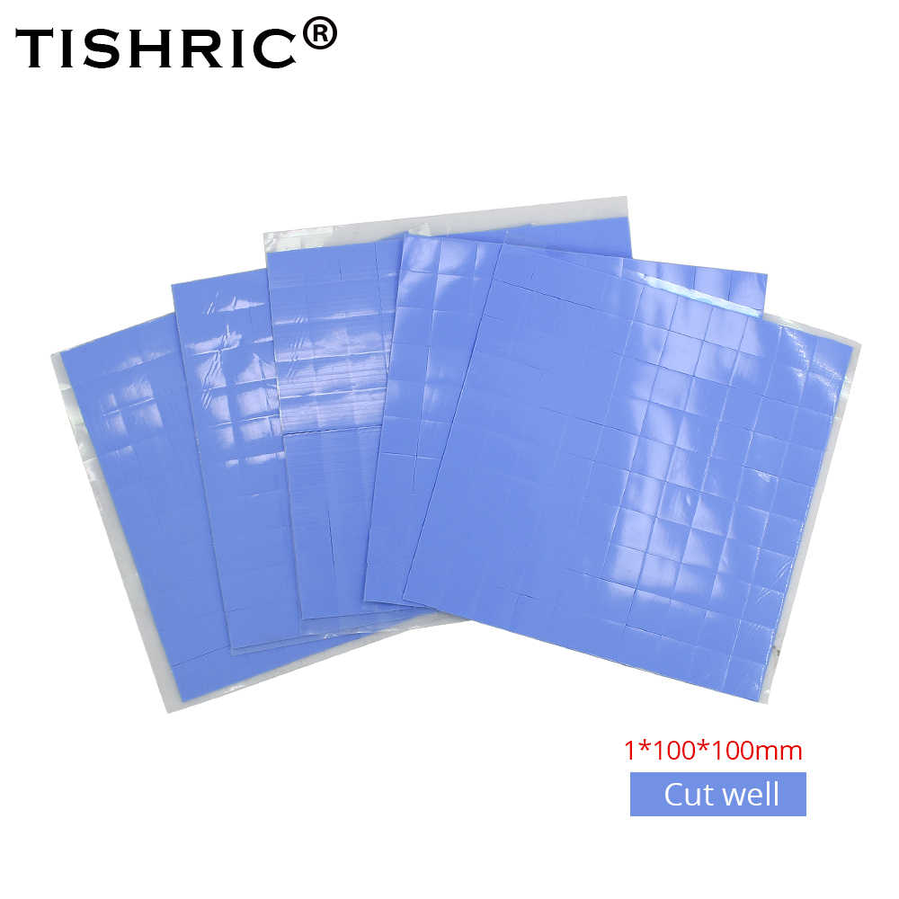 TISHRIC 100*100*1mm Heat Sink Cooling Fan Cooler GPU CPU Thermal Pads 1mm Conductive Silicone Pad PC Fan heatsink Paste Adhesive