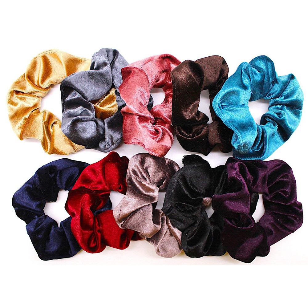 Hair Care & Styling Earnest 2019 Newly 10 Pcs Hair Accessories Velvet Solid Elastic Hair Bands Ponytail Holder Scrunchie Band Headband Tie Hairtool 40p119 Refreshing And Beneficial To The Eyes
