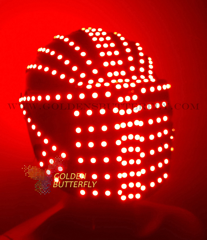 RBG Helmet Monochrome Full Color Luminous Racing Helmets 2017 Point Source Glowing LED Helmet Party DJ Robot Mask Accessories