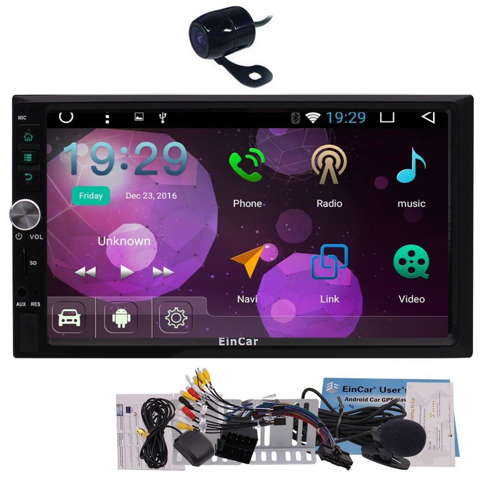 2017 eincar ОС Android 6.0 Электроника для автомобиля в тире Двухместный 2 DIN GPS навигации головное устройство Поддержка двойной cam в wi Fi 3G/4 г ключ o