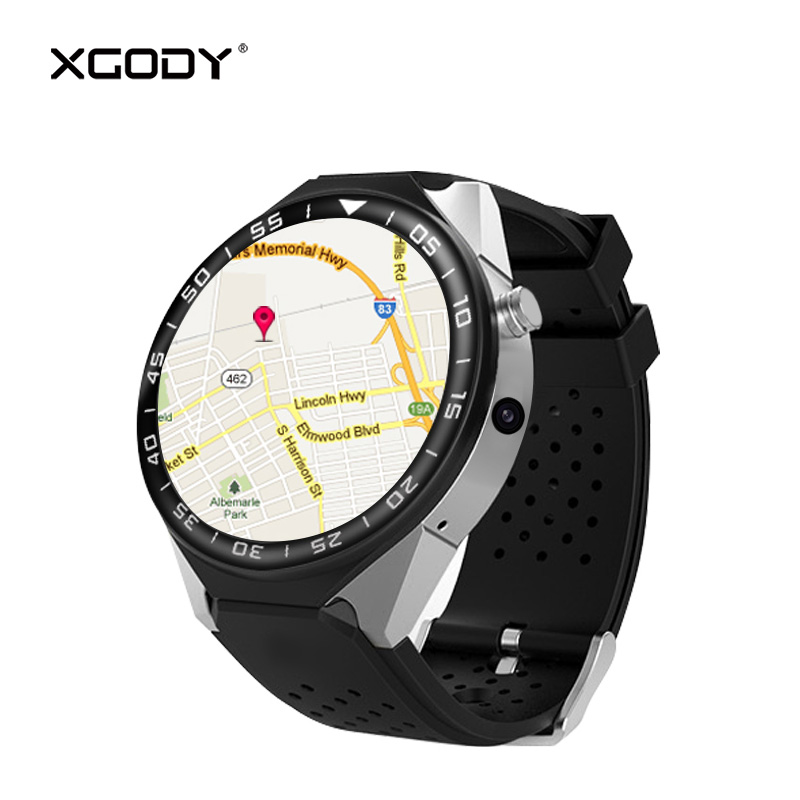 XGODY S99C Smartwatch Android 5.1 MTK6580 Quad Core Smart Watch with Sim Card 3G WCDMA Phone Call Heart Rate Monitor WiFi BT 4.0 цена