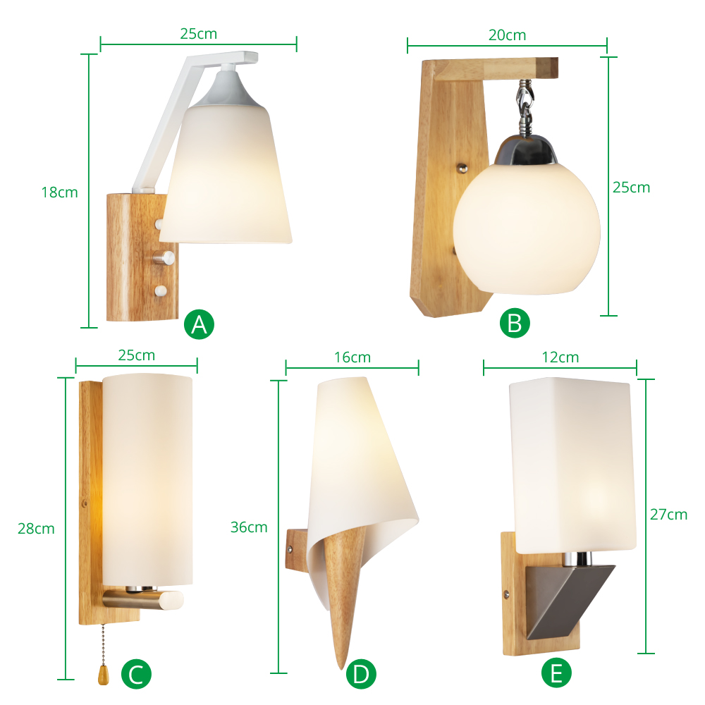 White Indoor Led Wall Lamp Nordic Modern E27 Bulbs Up Down