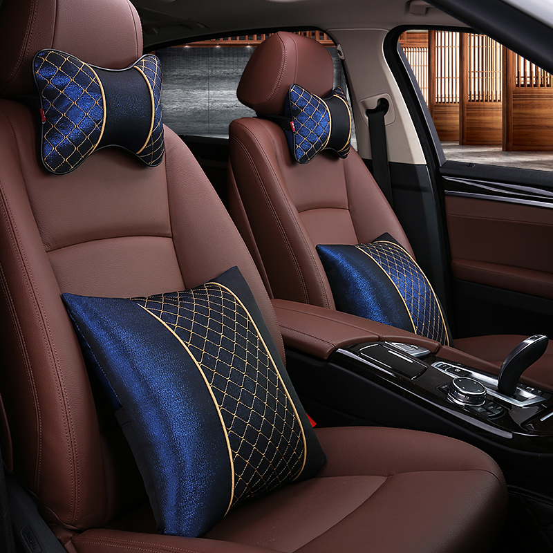 KKYSYELVA Apoio Cintura Auto suprimentos Encosto de Cabeça Do Carro pescoço Almofada de Segurança/suporte Encosto de cabeça do Carro pescoço