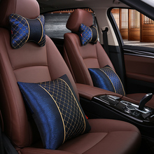 KKYSYELVA Waist Support Car Headrest Auto supplies neck Safety Cushion/ support