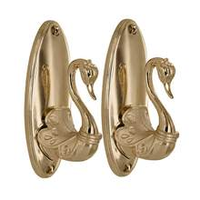 Pair of Vintage Swan Style Drapery Curtain Holdbacks Tieback Hooks Curtain Tiebacks Holdback Hooks(China)