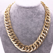 Europe and the United States retro exaggerated aluminum chain 50 cm long necklace manufacturers wholesale accessories 2019 new(China)