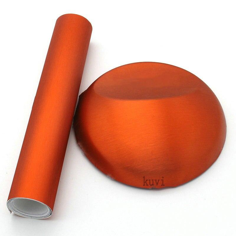 Размеры: 1,52x18 м оранжевый металлик матовый Алюминий винил автомобиля Обёрточная бумага Прокат Фильм Стикеры Авто внешней аксессуары фильм