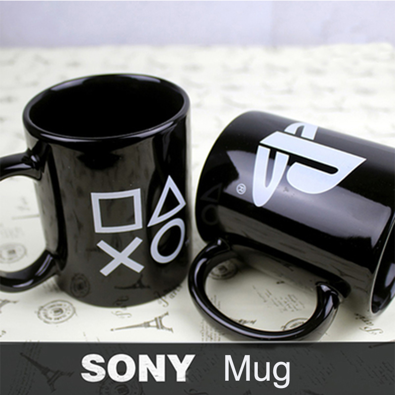 1Pcs PS4 Game SONY PlayStation Mug Ceramic Anime Model Game Cup Limited Collection Toys For Gifts Free Shipping