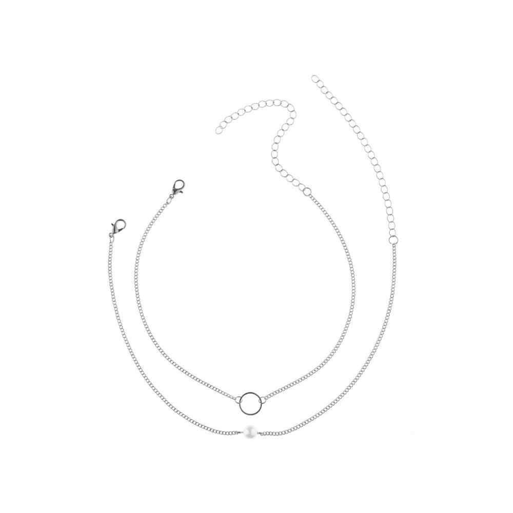 2019 Punk wielowarstwowy Pearl Choker naszyjnik obroża komunikat maryi panny monety kryształ wisiorek naszyjnik kobiety biżuteria