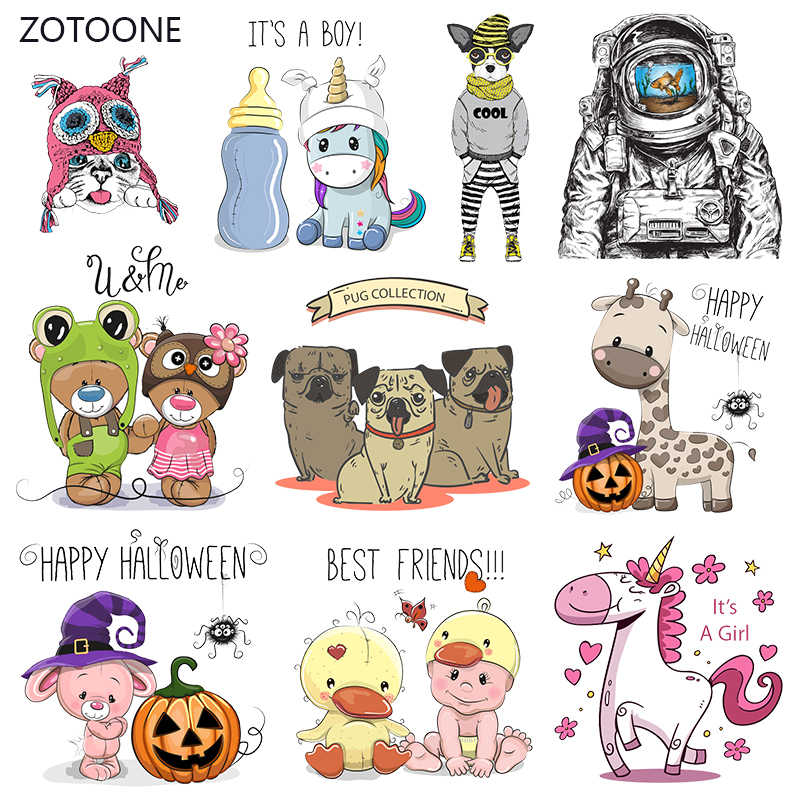 ZOTOONE Anime Stripes Iron on Transfer Patches on Clothing Diy Dog Patch Heat Transfer for Clothes for T-shirts Girl Sticker I