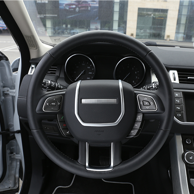 ABS Chrome Steering Wheel Decorative Strips Cover Trim Stickers for ...