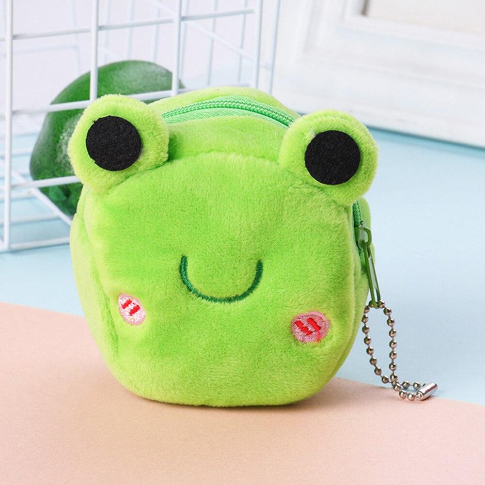 Girls Cute Money Bag Zipper Gift Plush Cartoon Soft Coin Purse Mini Stereo Portable Key Large Capacity