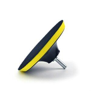 Image 5 - POLIWELL 3 4 5 дюймов M10 резьба самоприлипающая шлифовальные колодки крюк и петля наждачная бумага коврик на присосках Авто шлифовальный абразивный инструмент части