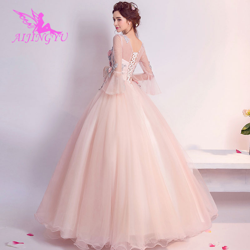 AIJINGYU 2018 Custom Made Free Shipping New Hot Selling Cheap Ball Gown Lace Up Back Formal Bride Dresses Wedding Dress TJ252
