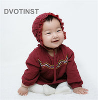 Dvotinst Newborn Baby Girls Clothes Dress Bodysuits Folk custom Dresses Yarn Cute Outfits Infant Toddler Jumpsuit Costume