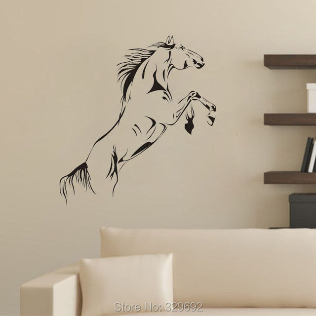 Jumping Horse Wall Stickers art Vinyl Decal Stylish Home Graphics decoration tx-004