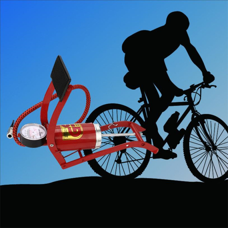 Foot Operated Air Pump Ball Bike Bicycle Tire Inflator Air Mattress