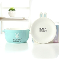NEW Lovely Rabbit Instant Noodles Bowls Porcelain Ramen Bowl Chinese Soup Salad Bowl Mixing Bowls Food Container Tableware