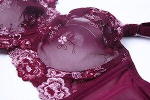 Image 3 - Sujetador de talla grande con bordado Floral, lencería ultrafina, 34, 36, 38, 40, 42, 44, 46, 48, B, C, D, E, F, G, H
