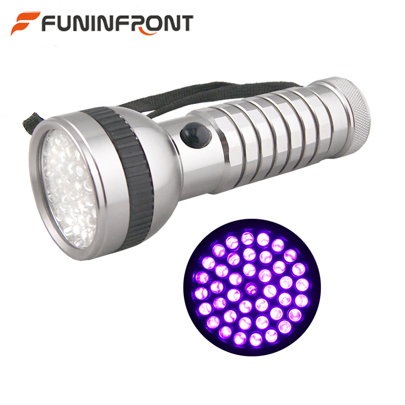 41 LEDS UV Flashlight Ultraviolet 395NM Blacklight LED Lamp Torch for Amber Currency Fluorescent Jade Detector Scorpion Hunt