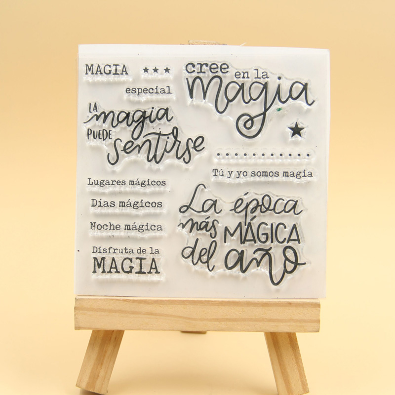 KLJUYP Spanish Clear Stamps Scrapbook Paper Craft Clear ...