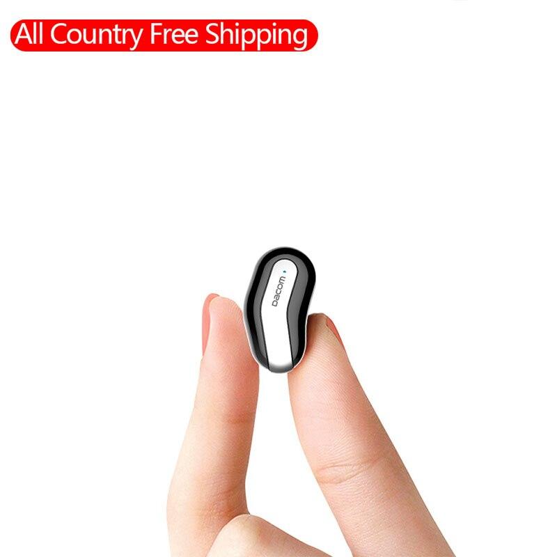 Dacom k8 mono small single earbuds hidden invisible earpiece micro mini wireless super bass stereo headset bluetooth earphone