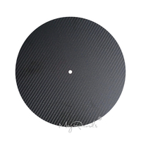 High Quality 12'' Carbon Fiber LP Mat Slipmat For Turntables Record Player Accessories