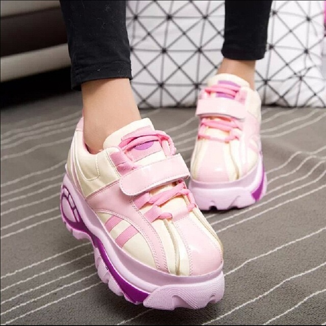 Japanese Harajuku shoes women candy mixed colors platform shoes retro Increased within shoes creepers x511 35