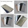 Оригинал Стекло Корпуса Чехол Дверь Задняя Крышка Батареи Случай Для Samsung Galaxy S7 Edge/S7/S6/S6edge/Note 5 С Логотипом клей