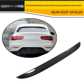 Car styling Carbon Fiber Rear Wing Roof Spoiler For Mercedes Benz GLC Class X253 Sport Utility 4 Door for GLC43 AMG GLC300 16-17 image