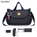 4 PCS/SET 2017 Baby Nappy Bags Diaper Bag Mother Shoulder Bag Fashion Maternity Mummy Handbag Waterproof Baby Stroller Bag NEW
