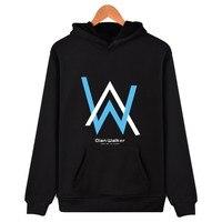 DJ Walkzz AW Alan Walker DJ Hoodie Sweatshirt Black Camouflage Hoodies Mens Male Alan Walker Faded