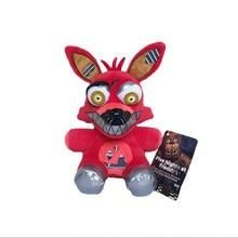 Nova chegada 18cm fnaf foxy brinquedos de pelúcia cinco noites no freddy pesadelo foxy raposa pelúcia brinquedo macio brinquedos boneca para crianças presentes