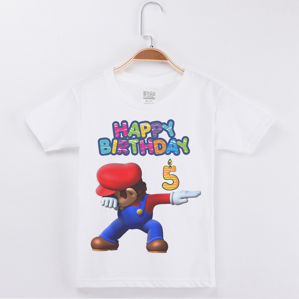 Hot sale Best Selling Birthday Numeral Boys T-Shirt Mario Print Cotton Kids Clothes Boy Tops Children Clothing Party Tee ShirtsHot sale Best Selling Birthday Numeral Boys T-Shirt Mario Print Cotton Kids Clothes Boy Tops Children Clothing Party Tee Shirts