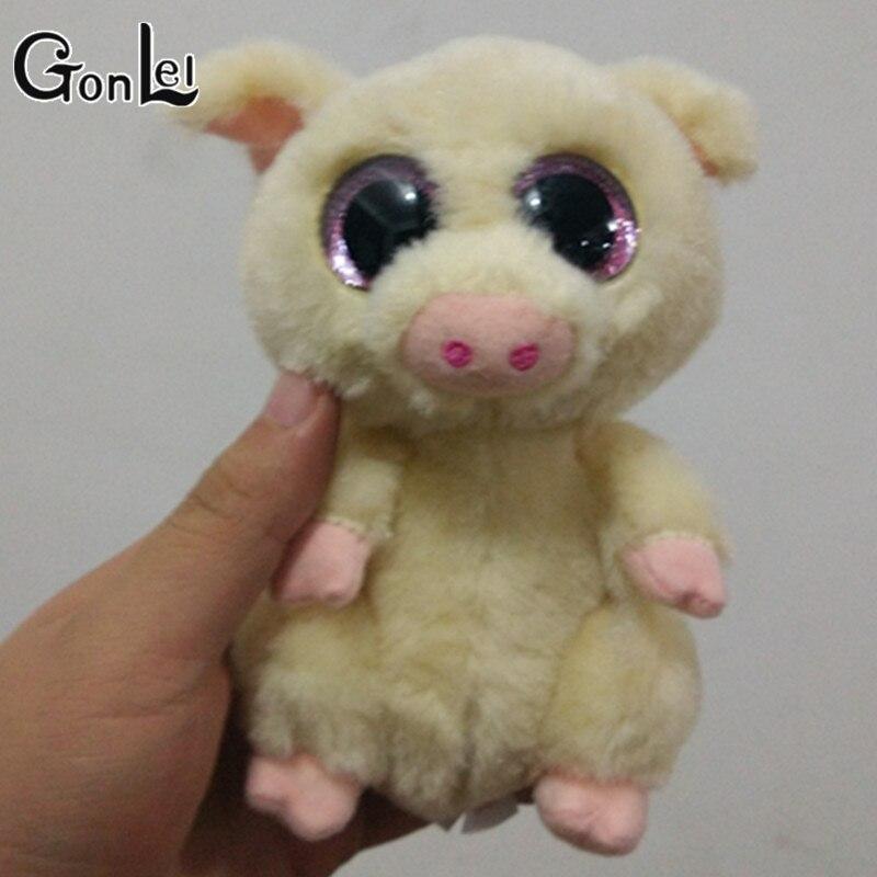Gonlei Ty Beanie Boo плюшевые-piggley свинья 15 см большой Средства ухода для век плюшевые игрушки куклы фиолетовый панда подарок для маленьких детей