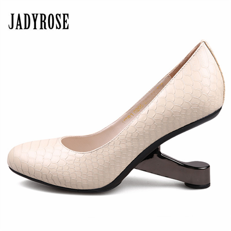 Jady Rose 2018 New Fashion Women Platform Pumps Strange Metal Heel Wedding Dress Shoes Woman High Heels Valentine Shoes Stiletto new arrive 2013 fashion free shipping stiletto high heels platform wedding shoes for women white