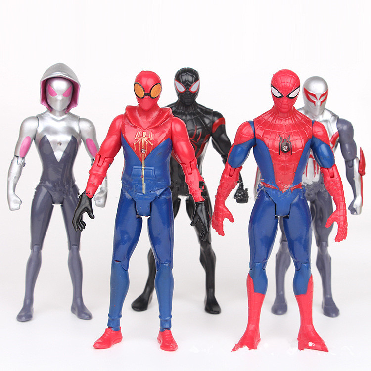6pcs Spiderman Homecoming 18cm Toy Action Figures Kids Juguetes Fridge Magnet Collection Toys Gift