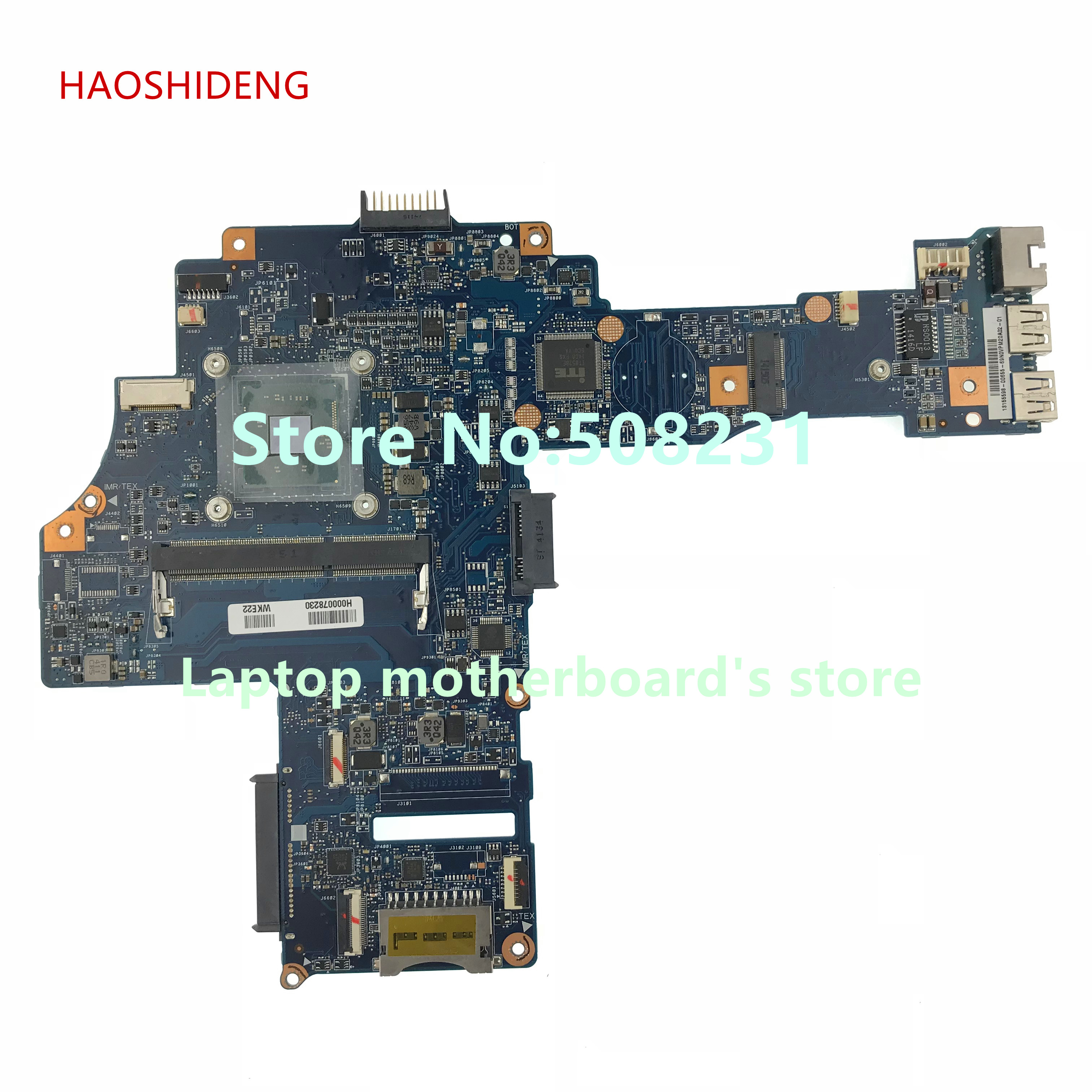 HAOSHIDENG H000078230 CA10BM Main Board for Toshiba Satellite C40-B series laptop motherboard with N2830 fully Tested