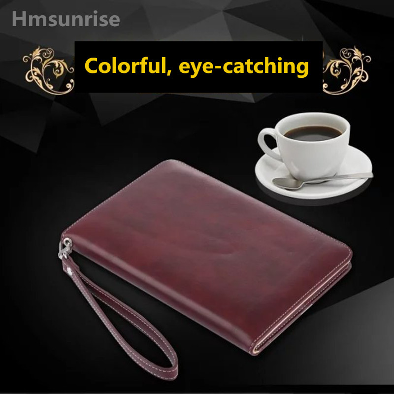 Top quality Case For Apple iPad Mini 4 Cowhide Leather Cover with Handbag for iPad mini 4 Tablet  free shipping number