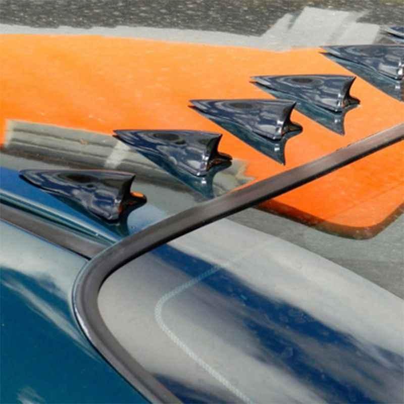 1 قطعة العالمي EVO-نمط بولي Roof الخلفي سقف القرش زعانف المفسد زعنفة القرش الناشر دوامة مولد سقف السيارة المفسد الوفير M77
