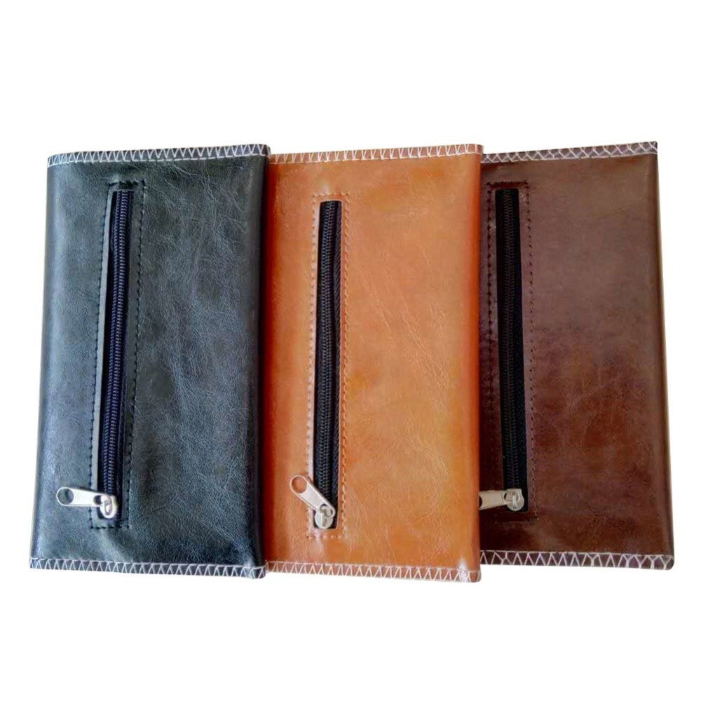 New 1pcs -PU Leather <font><b>Tobacco</b></font> Bag Portable Cigarette Rolling Pipe <font><b>Tobacco</b></font> Pouch <font><b>Case</b></font> Wallet Tip Paper Holder High Quality image