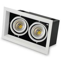 Free Shipping Double Square 2 16W COB LED COB Ceiling Light Cool White Warm White COB