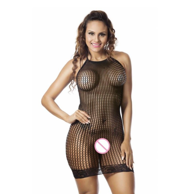 Women's Sexy Lingerie Hot Hollow Out Halter Sexy Babydoll Nightie Dress Sex Underwear Lenceria Sexy Erotic Lingerie Costumes 2