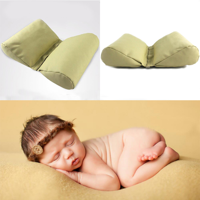 Butterfly wedge shaped posing pillow for newborn photography props pu material baby cushion infant positioner fotografia