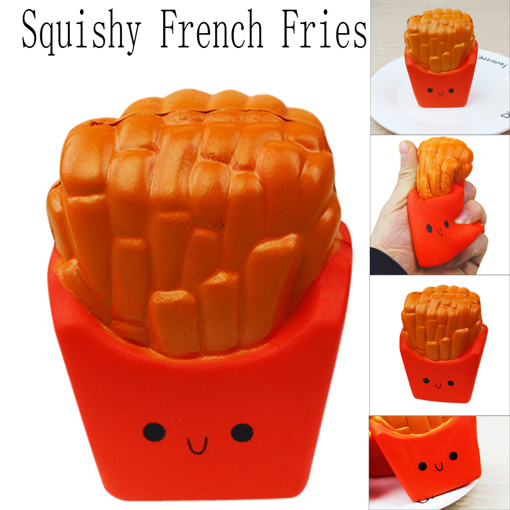 1pc 12CM French Fries Cream Scented Squeeze 6 Second Slow Rising Antistress Games Toy For Kid Children Boy Girl A1