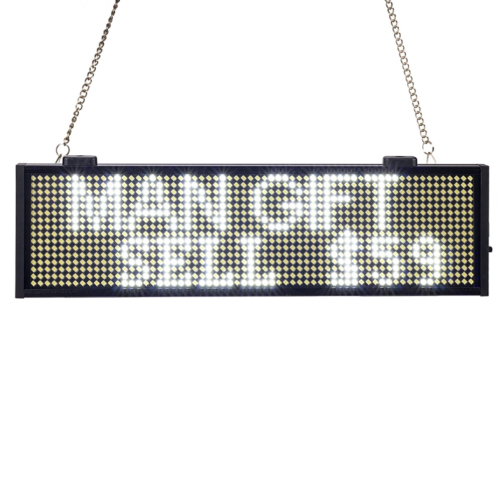 34CM SMD P5mm white LED Display Programmable Scrolling Message led sign Board Multi-color Optional yellow blue green Same Price34CM SMD P5mm white LED Display Programmable Scrolling Message led sign Board Multi-color Optional yellow blue green Same Price