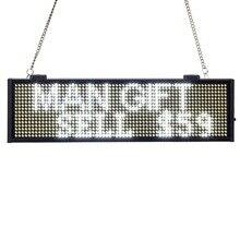 цена 34CM SMD P5mm white LED Display Programmable Scrolling Message led sign Board Multi-color Optional yellow blue green Same Price онлайн в 2017 году