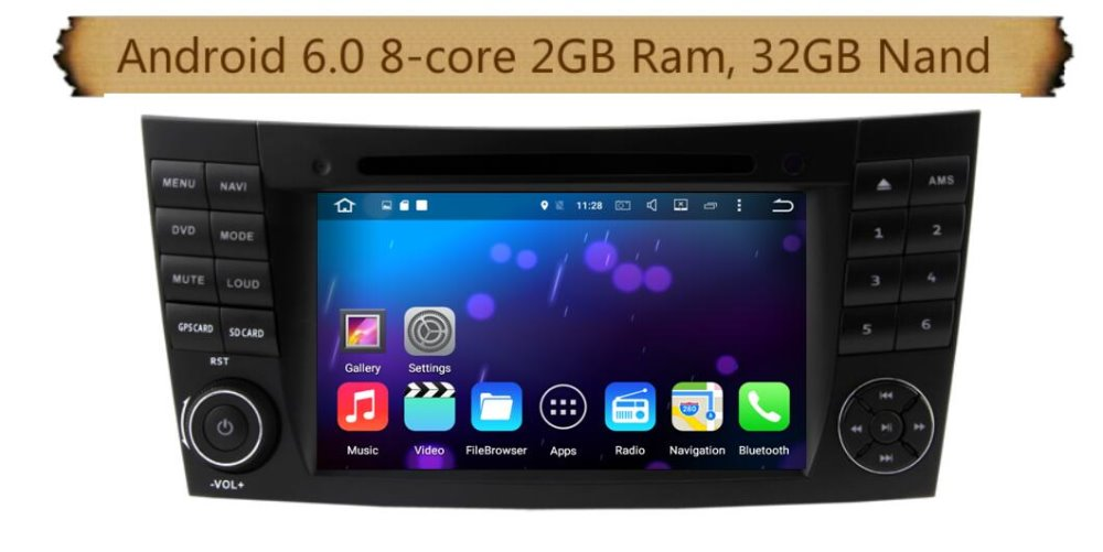 8 Core 7 inch Android 6 0 Car Dvd Gps for Benz E CLASS W211 W219