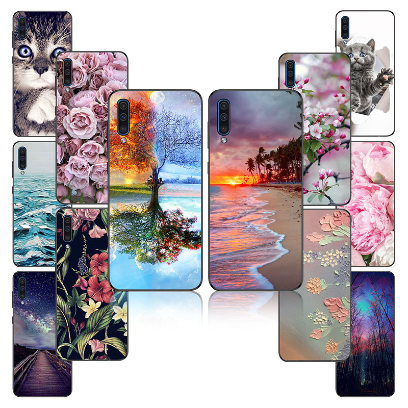 Soft For Phone Case <font><b>Samsung</b></font> Galaxy A50 Case Silicon Cover For <font><b>Coque</b></font> <font><b>Samsung</b></font> A50 A40 <font><b>A70</b></font> <font><b>2019</b></font> Case sFor <font><b>Samsung</b></font> A50 A505 bumper image